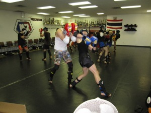 Spin back elbow pic Muay Thai Kickboxing