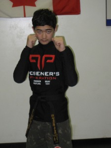Martin Kim with his new jr. black belt in Pankration/MMA